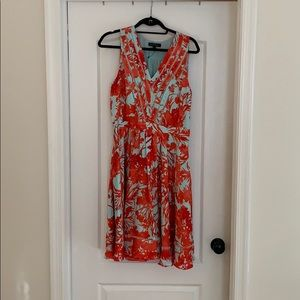 Banana Republic Turquoise Coral Dress